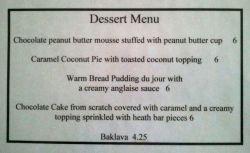 volta dessert