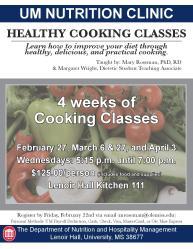 cooking classes at UM